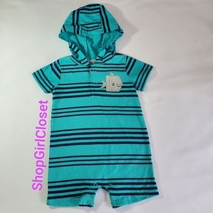 Carter's Hooded Romper Boy 3-6M
